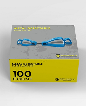 (100 Pack) Metal Detectable Glove Clips