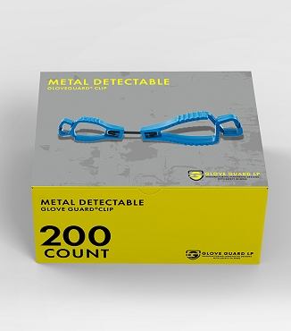 (200 Pack) Metal Detectable Glove Clips